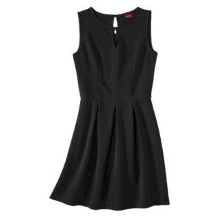 Merona Womens Textured Sleeveless Keyhole Neck Dress   Black   XXL