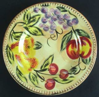 Tabletops Unlimited Frutas Dinner Plate, Fine China Dinnerware   Embossed,Grapes