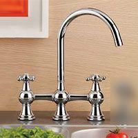 Mico 7746 C4 CP Bridge Two Handle Bridge Kitchen Faucet