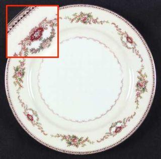 Meito Duke (F & B Japan) Dinner Plate, Fine China Dinnerware   Tan Edge&Scrolls,