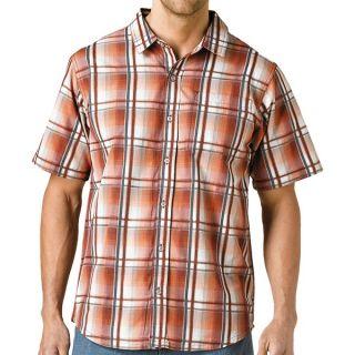 prAna Duke Shirt   Short Sleeve (For Men)   TOMATO (XL )