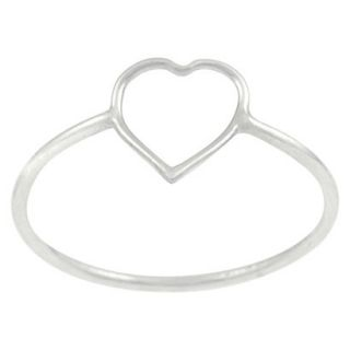 Tressa Collection Sterling Silver Heart Cut out Ring   Silver 6