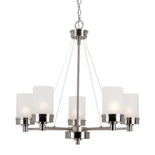 TransGlobe Lighting Urban Swag 5 Light Chandelier 70338 BN