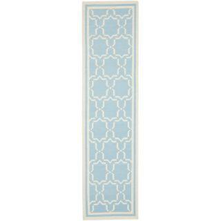 Safavieh Dhurries Light Blue/Ivory Rug DHU545B Rug Size: Runner 26 x 12