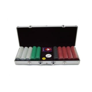 Trademark Poker 11.5g Suited Set Silver with Aluminum Case   500 Chips   10