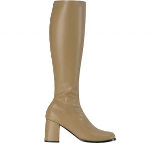 Womens Funtasma Gogo 300   Tan Stretch PU Boots