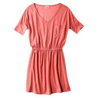 Mossimo Supply Co. Juniors V Neck Dress   Maori Flower Red L(11 13)