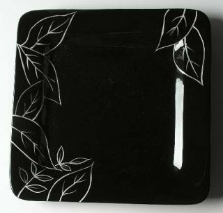 Laurie Gates Anna Black Dinner Plate, Fine China Dinnerware   Black Body,Floral,