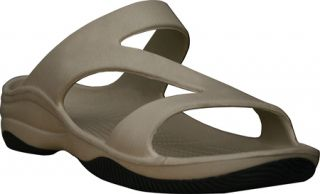Womens Dawgs Z Sandal/Rubber Sole   Tan/Black Casual Shoes