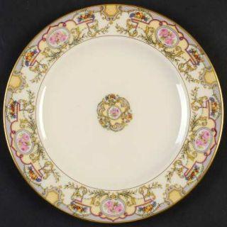 Morgan Belleek (USA) Victoria Salad Plate, Fine China Dinnerware   Roses & Fruit