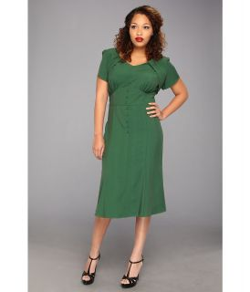 Stop Staring! for The Cool People Holly Aline Dress Plus Size Womens Dress (Green)