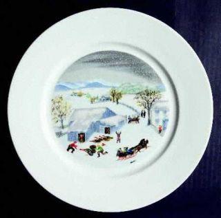 Atlas China (NY) Grandma Moses (Smooth) Dinner Plate, Fine China Dinnerware   Gr