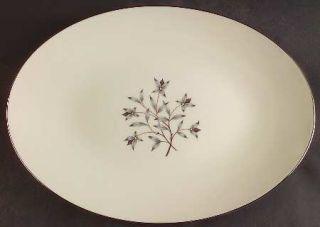 Lenox China Princess 16 Oval Serving Platter, Fine China Dinnerware   Gray & Ta