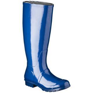 Womens Classic Knee High Rain Boot   Marine Blue 8
