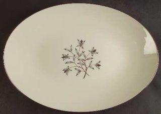 Lenox China Princess 13 Oval Serving Platter, Fine China Dinnerware   Gray & Ta