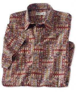 Hand printed Kalamkari Shirt, Xx Large