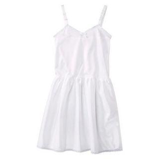 Girls Nylon Full Slip   White 7
