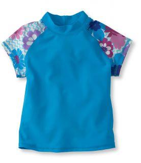 Girls Hibiscus Sport Surf Shirt Girls