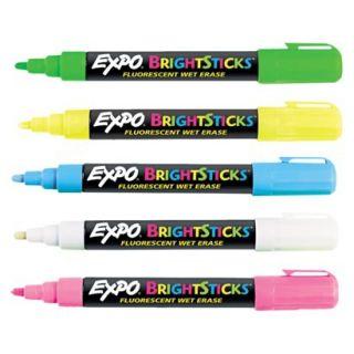 EXPO Bullet Tip Bright Sticks Wet Erase Fluorescent Marker Set   Assorted