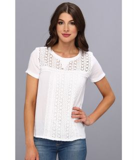 KUT from the Kloth Arianna Top Womens Short Sleeve Pullover (White)