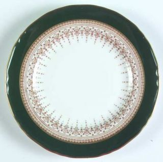 Royal Worcester Regency Green & Brown (Newer) Bread & Butter Plate, Fine China D