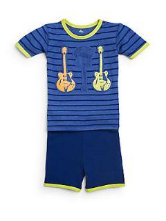 Toddlers & Little Boys Rock Star 2 Piece Pajama Set   Blue