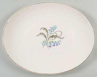 Edwin Knowles Bluebells 12 Oval Serving Platter, Fine China Dinnerware   Bluebe