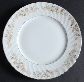 Fine China of Japan Jacqueline Salad Plate, Fine China Dinnerware   Gold & Blue