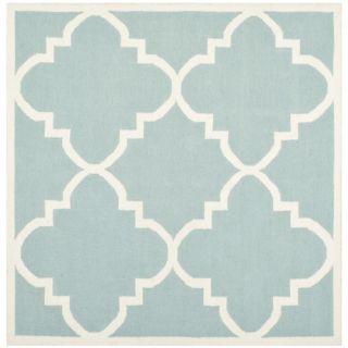 Safavieh Dhurries Light Blue/Ivory Rug DHU633C Rug Size: Square 6 x 6