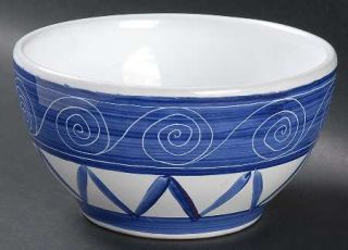 Block China Cote DAzur Coupe Cereal Bowl, Fine China Dinnerware   Blue & White