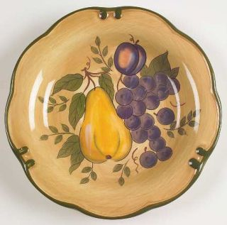 Home Trends Granada Salad Plate, Fine China Dinnerware   Various Fruit On Yellow