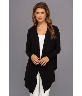 BCBGMAXAZRIA Angela Knit Cardigan Wrap Womens Sweater (Black)