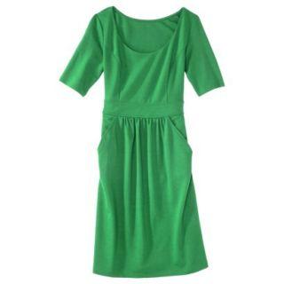Merona Womens Ponte Elbow Sleeve Dress w/Pockets   Mahal Green   XXL