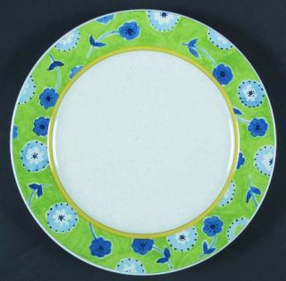 Studio Nova Cote DAzur   Green Salad Plate, Fine China Dinnerware   Blue Flower