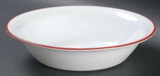 Corning Berries And Leaves Soup/Cereal Bowl, Fine China Dinnerware   Red Band &