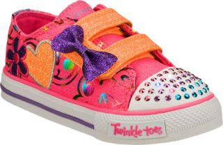Infant/Toddler Girls Skechers Twinkle Toes Shuffles Double Adore   Pink/Multi V