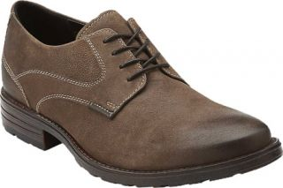 Mens Clarks Denton Stroll   Taupe Leather Lace Up Shoes