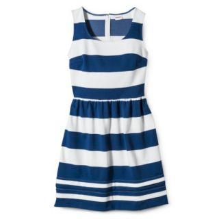 Merona Womens Ponte Dress   Blue/Sour Cream   L