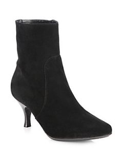 Aquatalia by Marvin K Mila Suede Ankle Boots   Black Suede