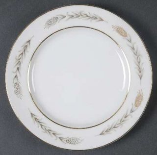 Fine China of Japan Grano Bread & Butter Plate, Fine China Dinnerware   Gold Whe