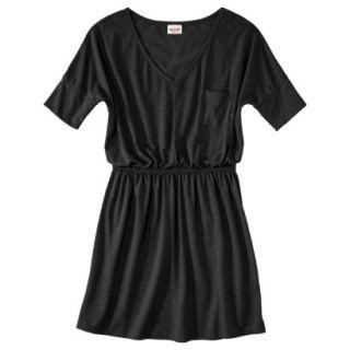 Mossimo Supply Co. Juniors V Neck Elbow Sleeve Dress   Black L(11 13)