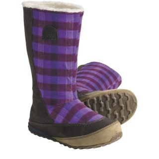 Sorel MacKenzie Slip Holiday Winter Boots   Tall  Fleece Lined (For Women)   STOUT/ROYAL PURPLE (6 )