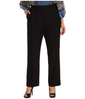 Pendleton Plus Size Worsted Wool True Fit Trouser Womens Dress Pants (Black)