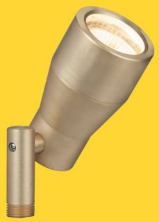Corona Lighting CL523BR 50W Low Voltage Solid Brass Bullet Directional Light Natural Brass