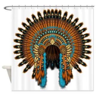 CafePress Native War Bonnet 08 Shower Curtain Free Shipping! Use code FREECART at Checkout!