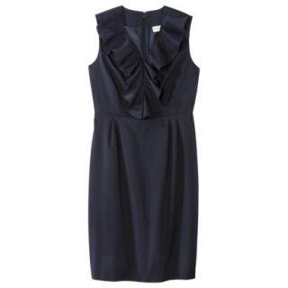 Merona Petites Sleeveless Sheath Dress   Blue 10P