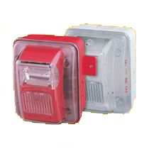 Gentex GEC324WR 24VDC Selectable Candela Low Profile Evacuation Horn amp; Strobe Red Faceplate