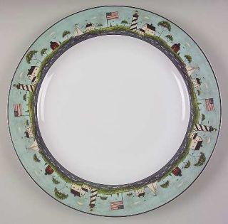 Sakura Coastal Breeze 12 Chop Plate/Round Platter, Fine China Dinnerware   Warr