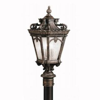 Kichler 9559LD Outdoor Light, European Post Mount 4 Light Fixture Londonderry