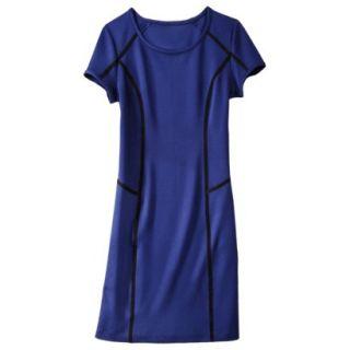 Mossimo Womens Body Con Scuba Dress   Blue L